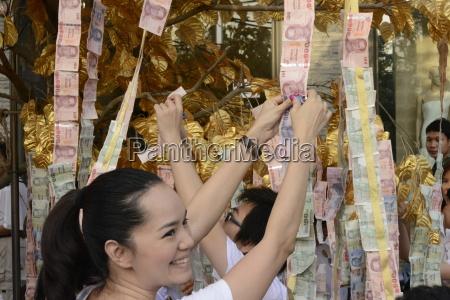 oferta do dinheiro banguecoque tailandia sudeste