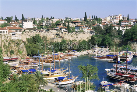 harbour and town antalya lycia anatolia
