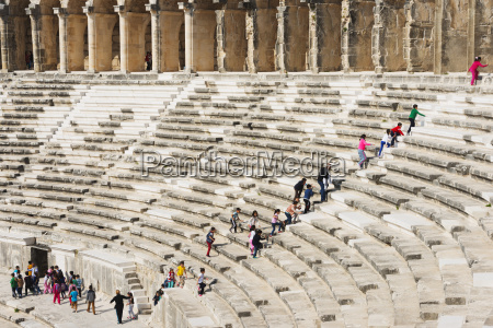 the second century roman theatre built