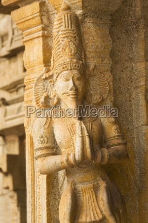 uma escultura hindu da as boas