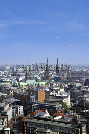 alemanha hamburgo vista da skyline com