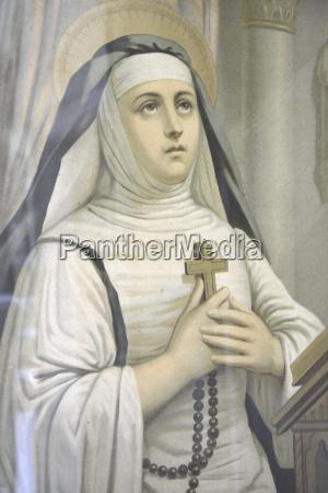 pintura da virgem maria