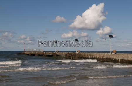 aguas nuvem agua mar baltico agua