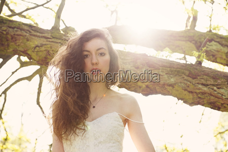 portrait of young woman in a