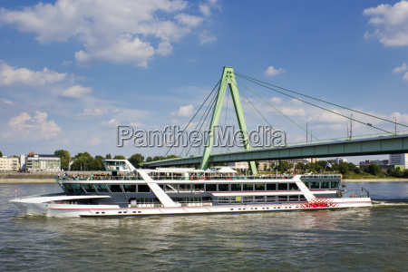 germany cologne tourboat on river rhine