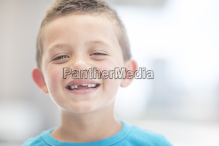 portrait of a laughing boy with