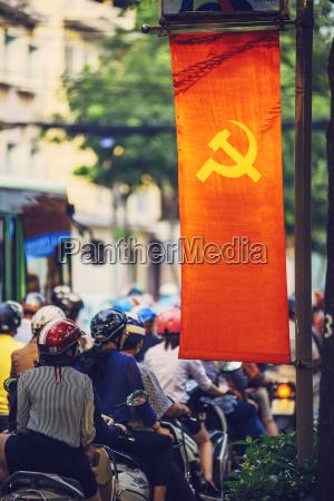 cidade veiculo ao ar livre bandeira
