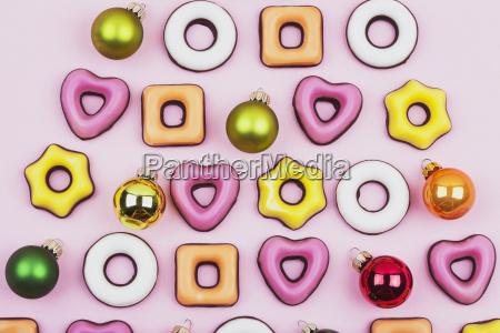 biscoitos de natal e bugigangas