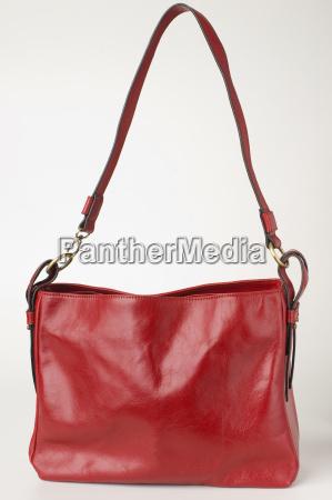 saco da senhora vermelha fim acima