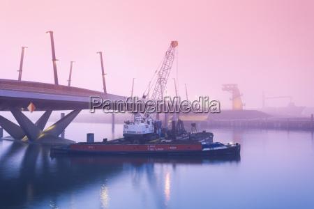 germany hamburg hafencity baaken harbour bridge