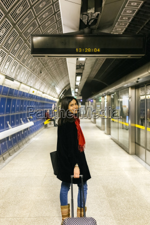 uk london young woman standing at