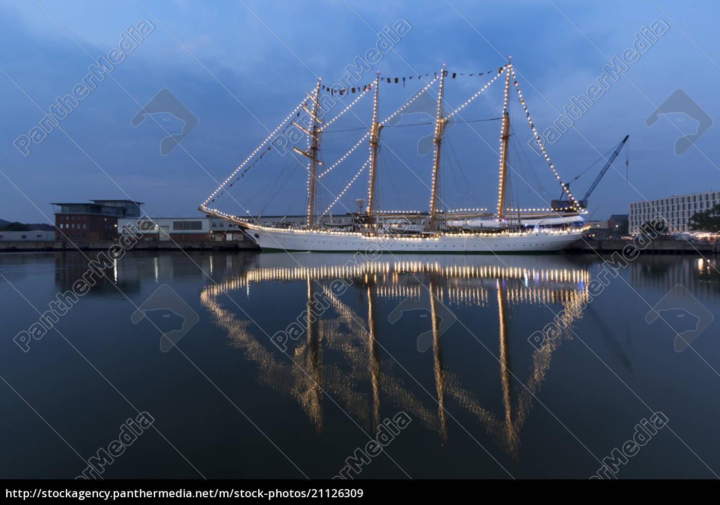 alemanha, bremerhaven, veleiro, na, vela, 2015 - 21126309