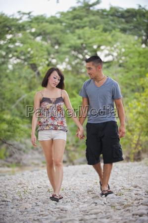 usa texas leakey young couple walking
