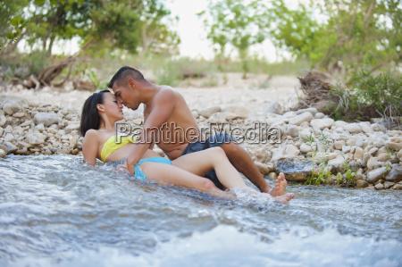usa texas leakey young couple romancing