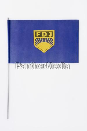 bandeira com simbolo da republica federal
