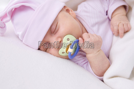 baby girl 2 months sleeping with