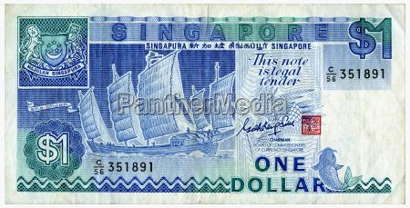 ein singapur dollar nahaufnahme