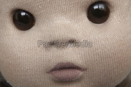 close up da face da boneca