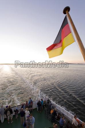 germany mecklenburg vorpommern schaproder bodden flag
