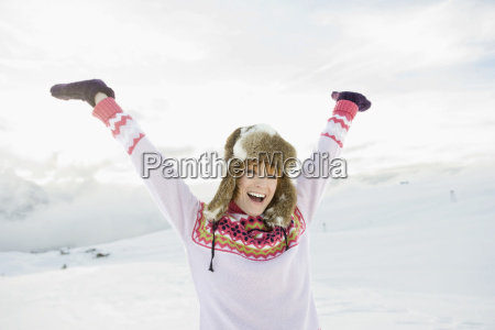 italy south tyrol seiseralm young woman