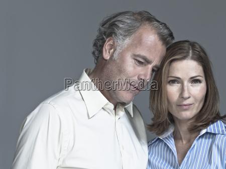 couple head to head portrait