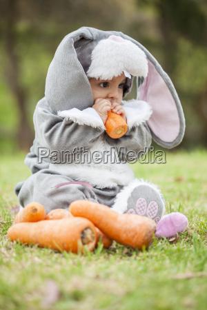 bebe infantil coelho dia das bruxas