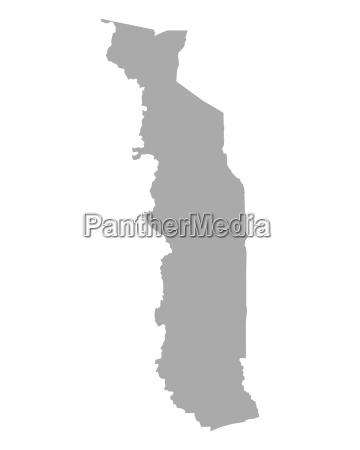 grafico ilustracao mapa togo geografia cartografia