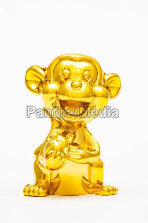 liberado animal estatua macaco brinquedo dourado