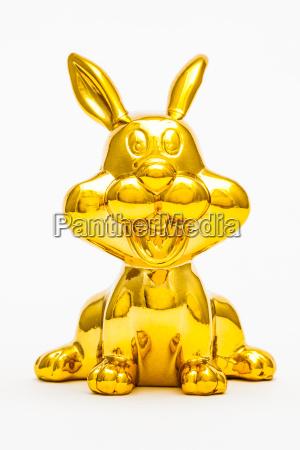 liberado animal estatua brinquedo dourado coelho
