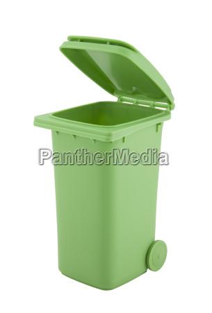 o verde recicl o escaninho isolado
