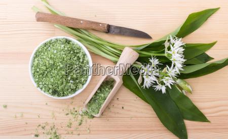 sal de ervas verde de alho