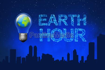 planeta azul na ampola com mensagem