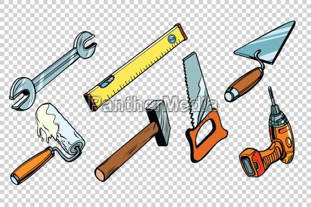 conjunto de ferramentas de reparo fundo