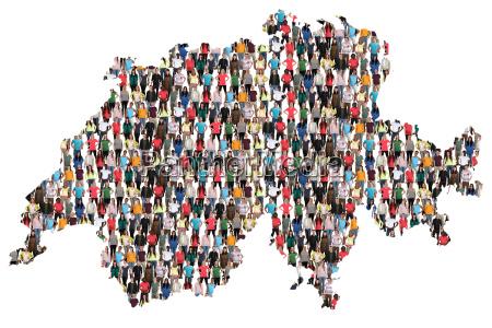 svizzera mappa persone persone gruppo di