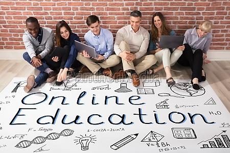 people looking at online education plan