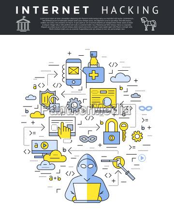 vetor digital azul seguranca na internet