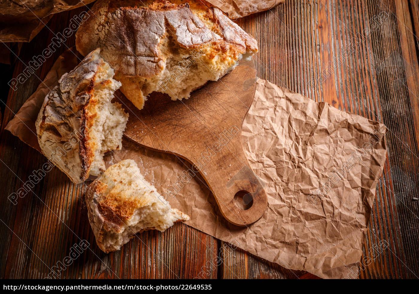 feche, acima, do, pão, rústico - 22649535