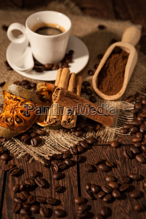 cup, of, coffee, with, cinnamon, and - 22719723