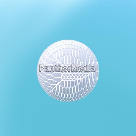 renderizacao 3d esfera moldada a partir