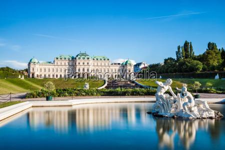palacio de belvedere em viena austria