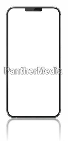 smartphone com a tela em branco