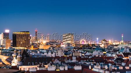 vista aerea sobre a paisagem urbana