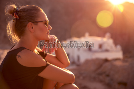 beautiful woman enjoying travel