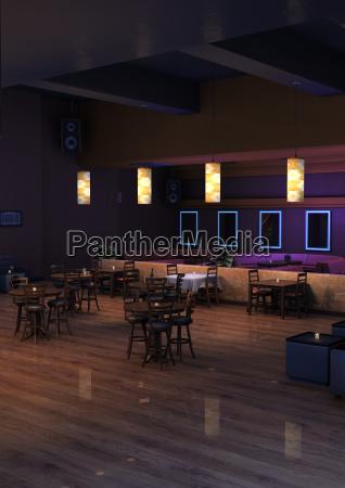 3d rendering lounge bar interior