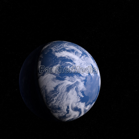 3d rendering blue plant earth