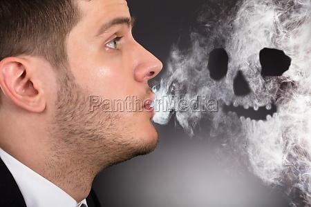 cigarro nao enfumacado fumaca homem