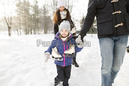 little girl going ice skating with