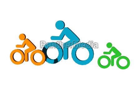 sinal esporte esportes simbolos racas ciclo