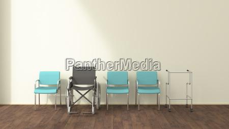 cadeira de rodas ordem acordo ilustracao