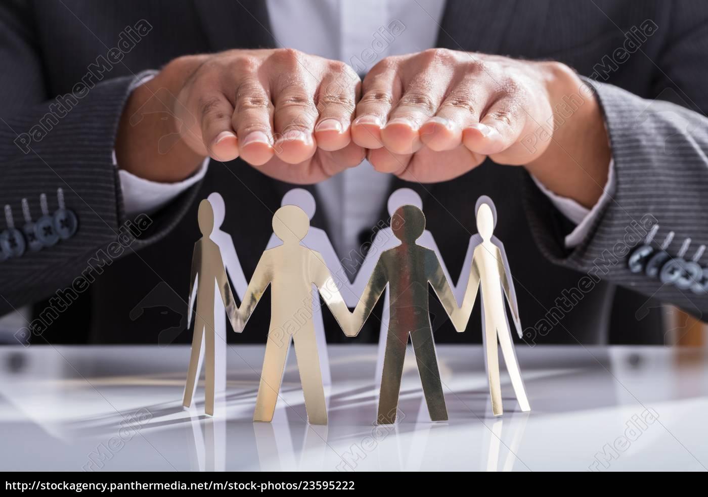 empresário, protegendo, figuras, de, corte - 23595222